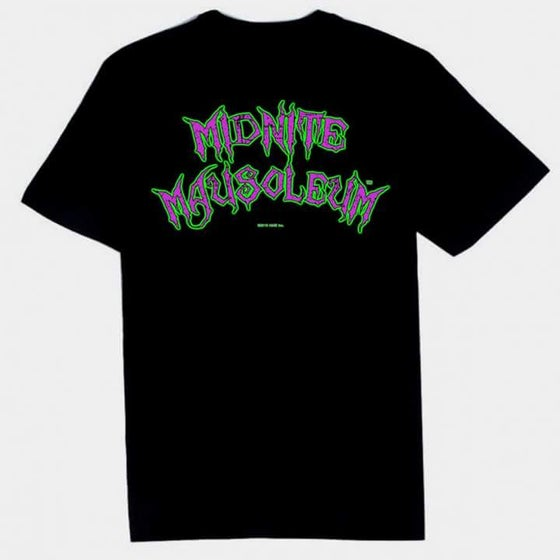 Image of Midnite Mausoleum color logo tee