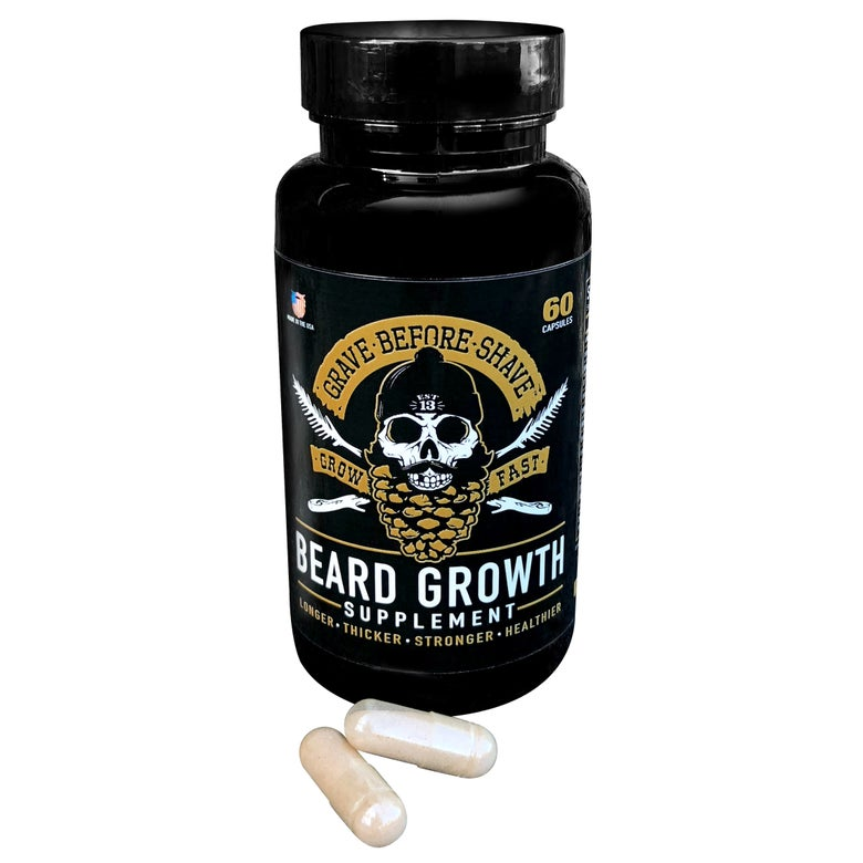 Image of Grave Before Shave Beard Growth Supplement (60 capsules per bottle)