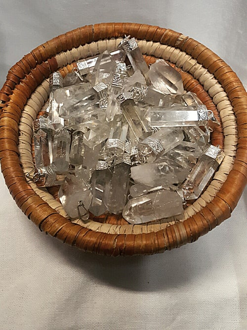 Image of Various Quartz Pendants (12pc)