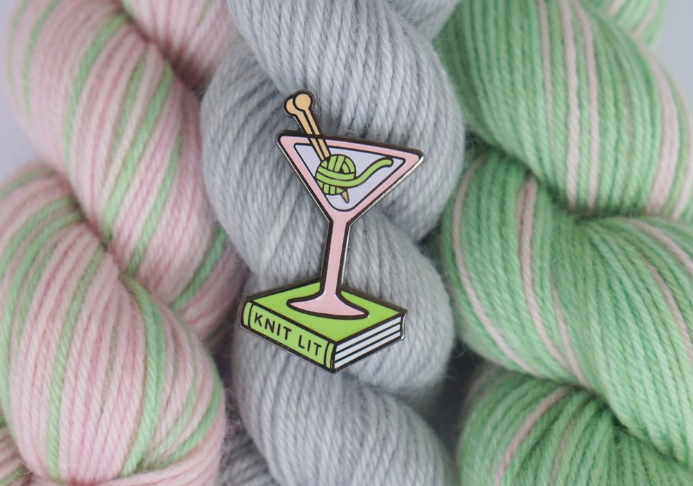 Image of Knit Lit Enamel Pin