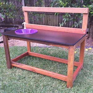 Image of Outdoor play kitchen / mud kitchen