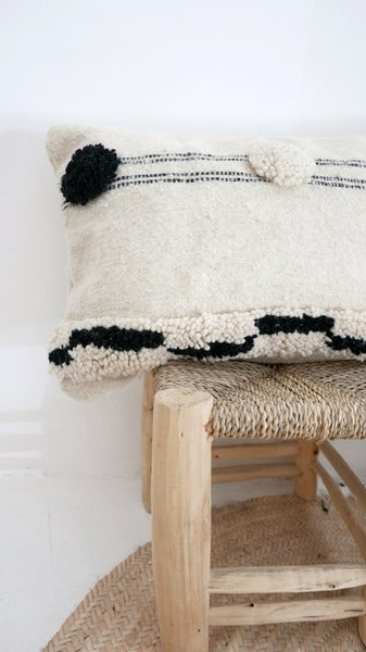 Image of Small Moroccan Wool Kilim-Cushion