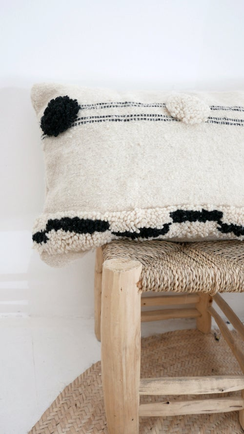 Image of Moroccan Wool Kilim-Cushion