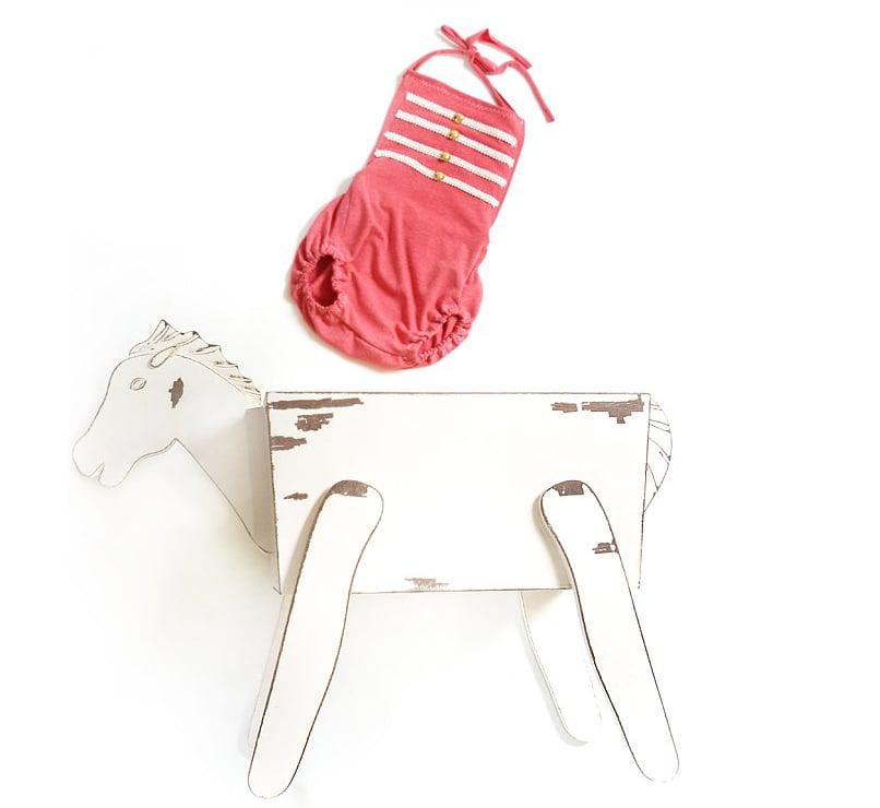 Image of Süßes Reiter-Set für sitzende Babys / sweet equestrian set for sitters -EXCLUSIV-