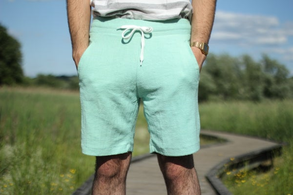 Image of Mint Reverse Terry Shorts