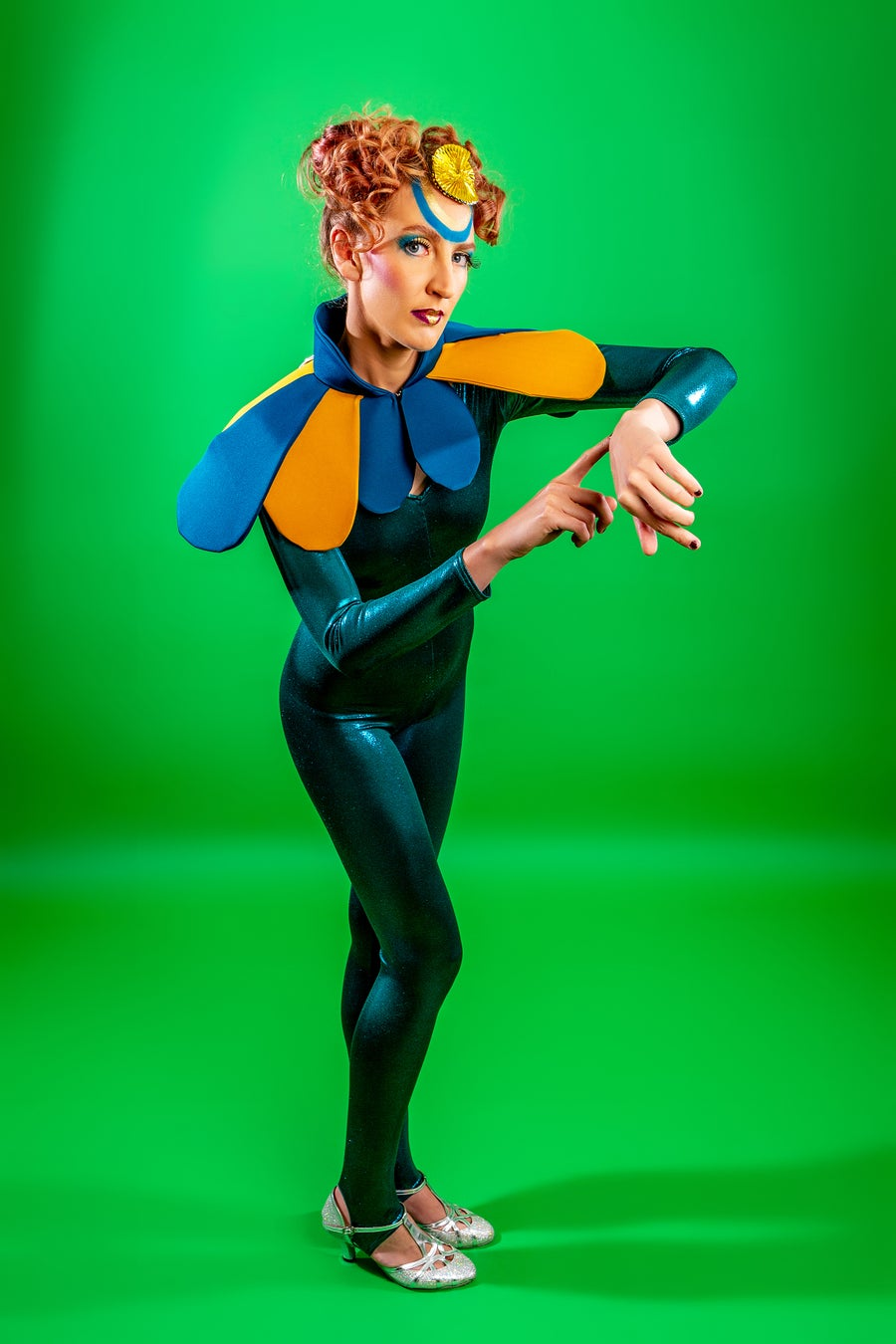 Image of Metallic Catsuit