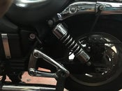 "Image of 12"" (300mm) HEAVY DUTY REAR SHOCKS CHROME AMERICA / SPEEDMASTER"