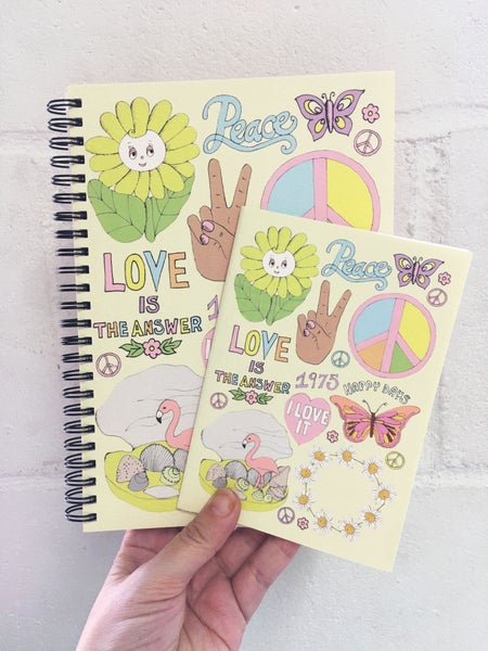 Image of Peace & Love Notebook