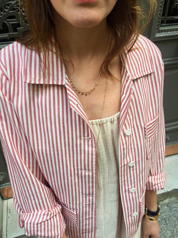 Veste Victoire à Rayures Rouges 235€  -60% - Maison Brunet Paris