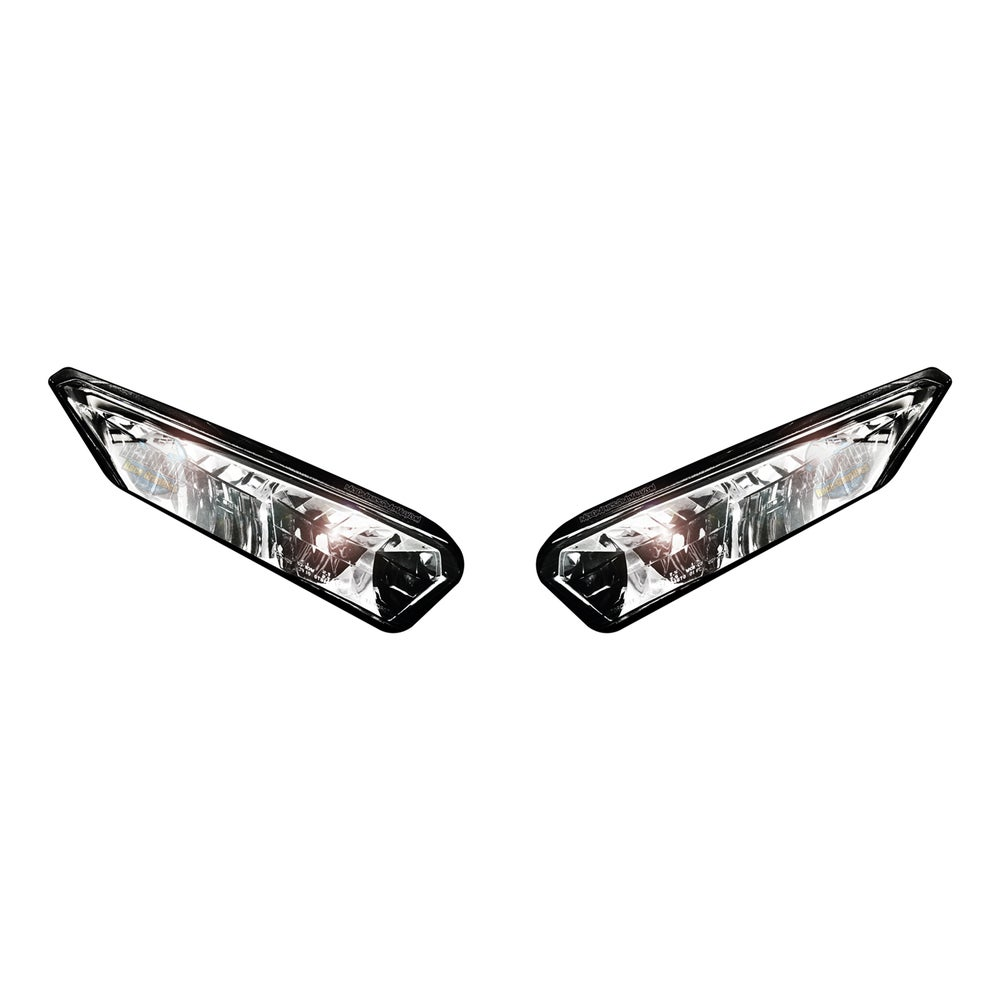 Image of Headlight Stickers – To fit Kawasaki Ninja 400 2017>