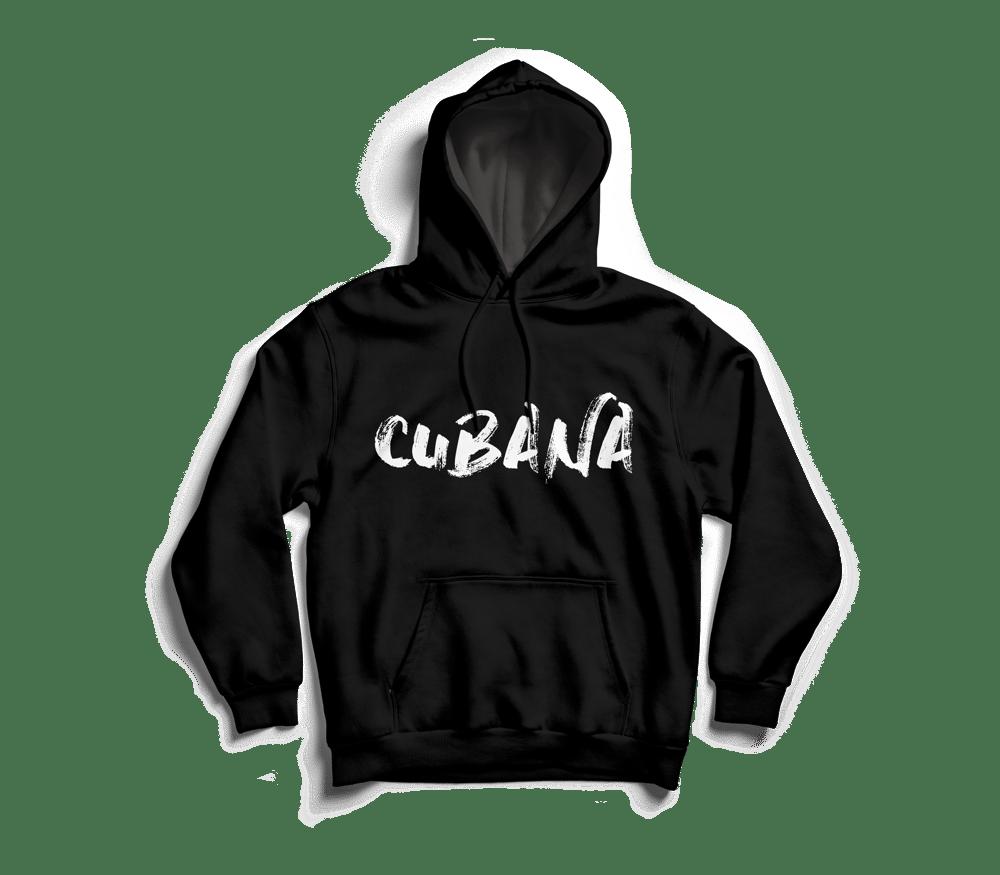 Image of CUBANA Black Pull-Over Hoodie