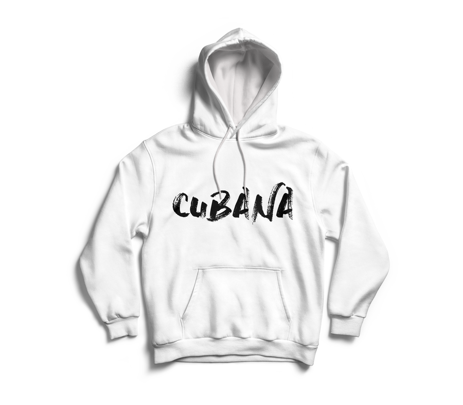 Image of CUBANA White Pull-Over Hoodie