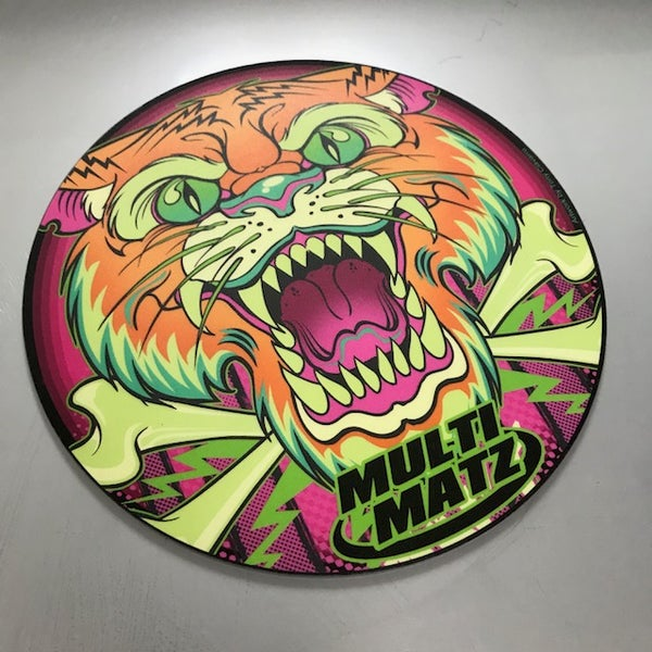 "Image of Electric tiger Mat 9"" round"