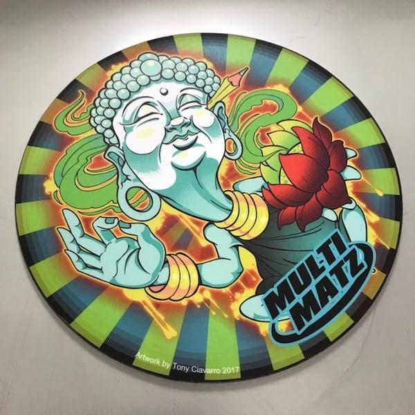 """Image of Buddha Mat 9"""" Round"""