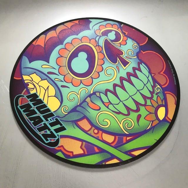 "Image of Sugar Skull Mat 9"" Round"