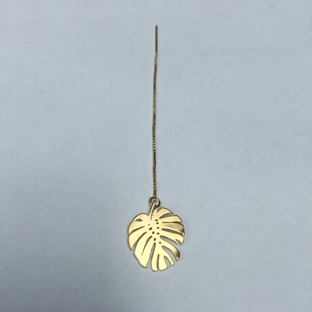 Image of Monstera chain earring