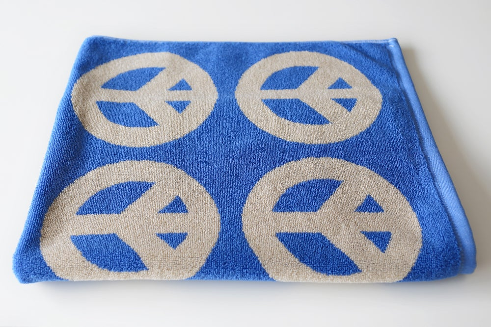 Image of Mini Peace Towel <div> French Blue & Cream</div>