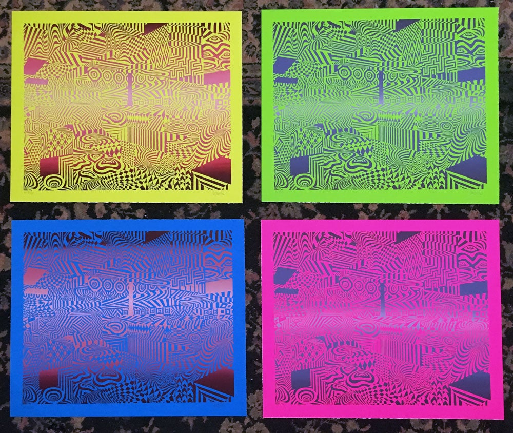Image of opart neon edition