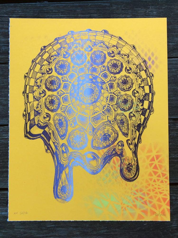 Image of Drippy Mandala neon variant