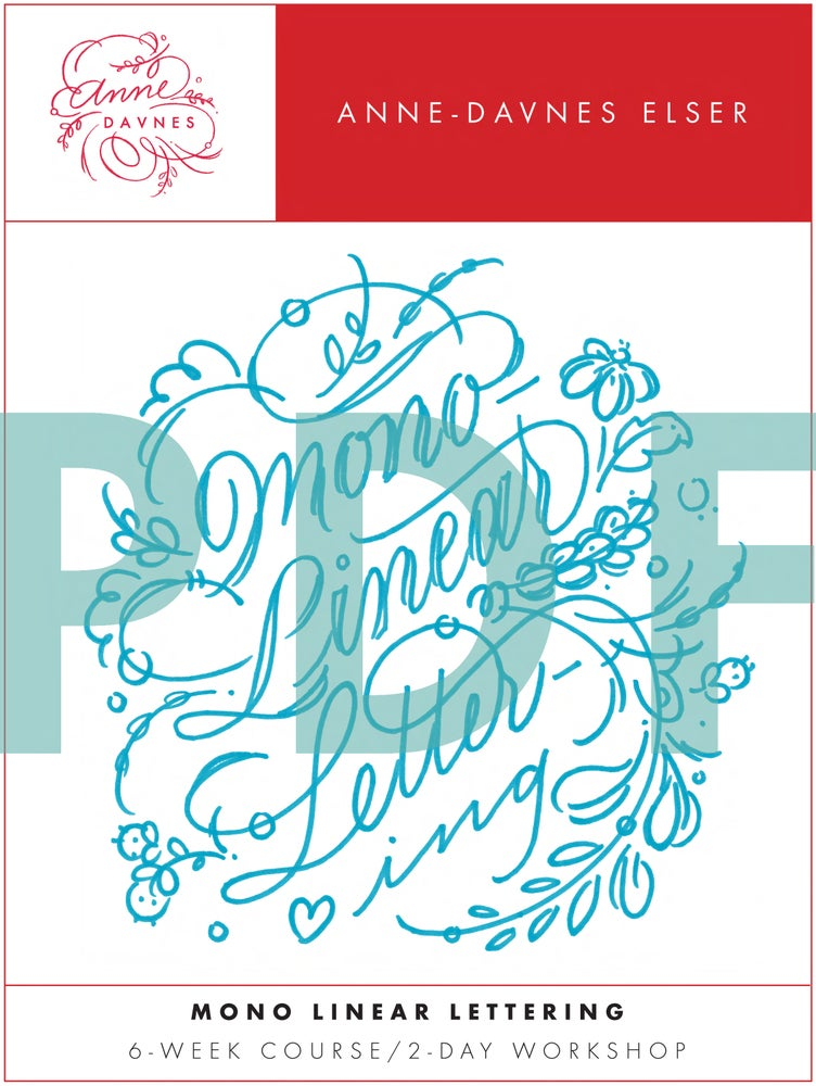 Image of Mono Linear Lettering Combo Exemplar Set PDF DOWNLOAD