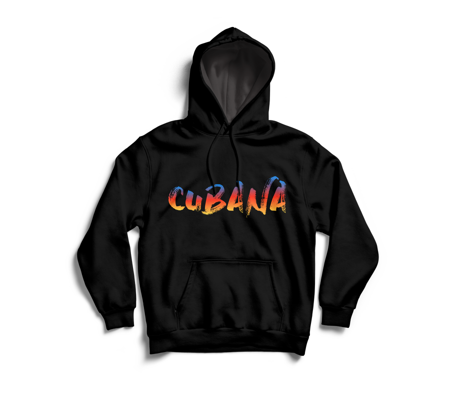 Image of CUBANA Black & Sunset Pull-Over Hoodie