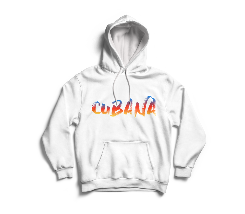 Image of CUBANA White & Sunset Pull-Over Hoodie