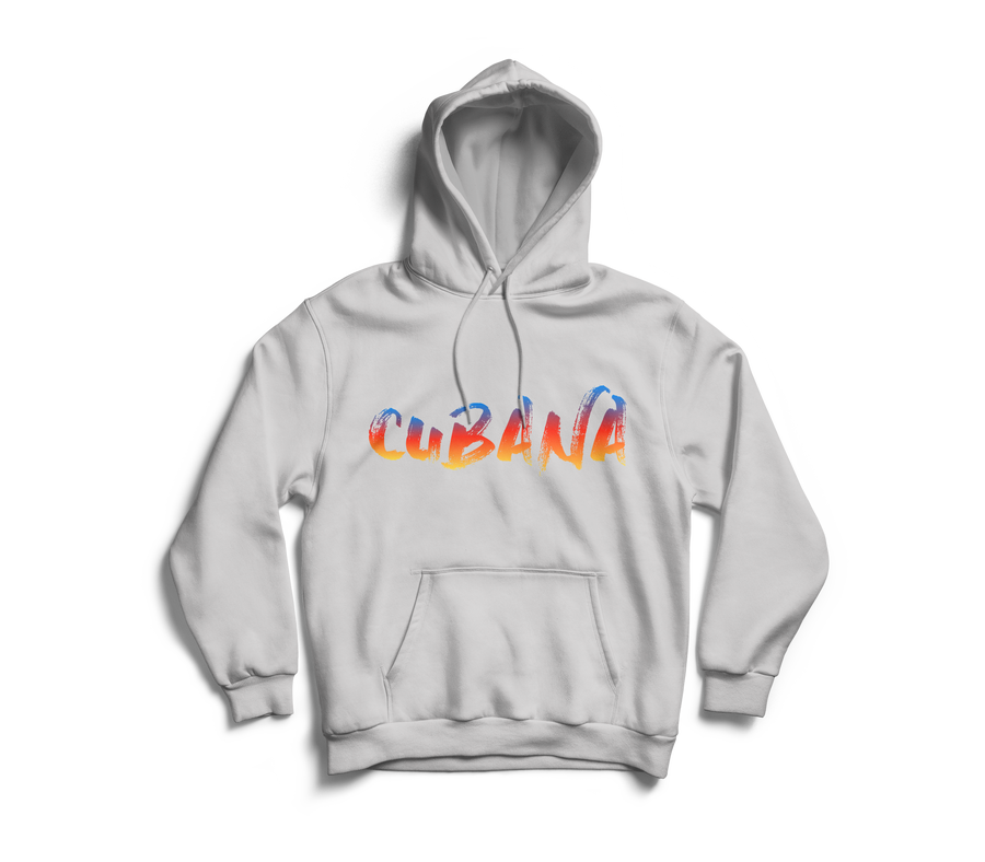 Image of CUBANA Grey & Sunset Pull-Over Hoodie