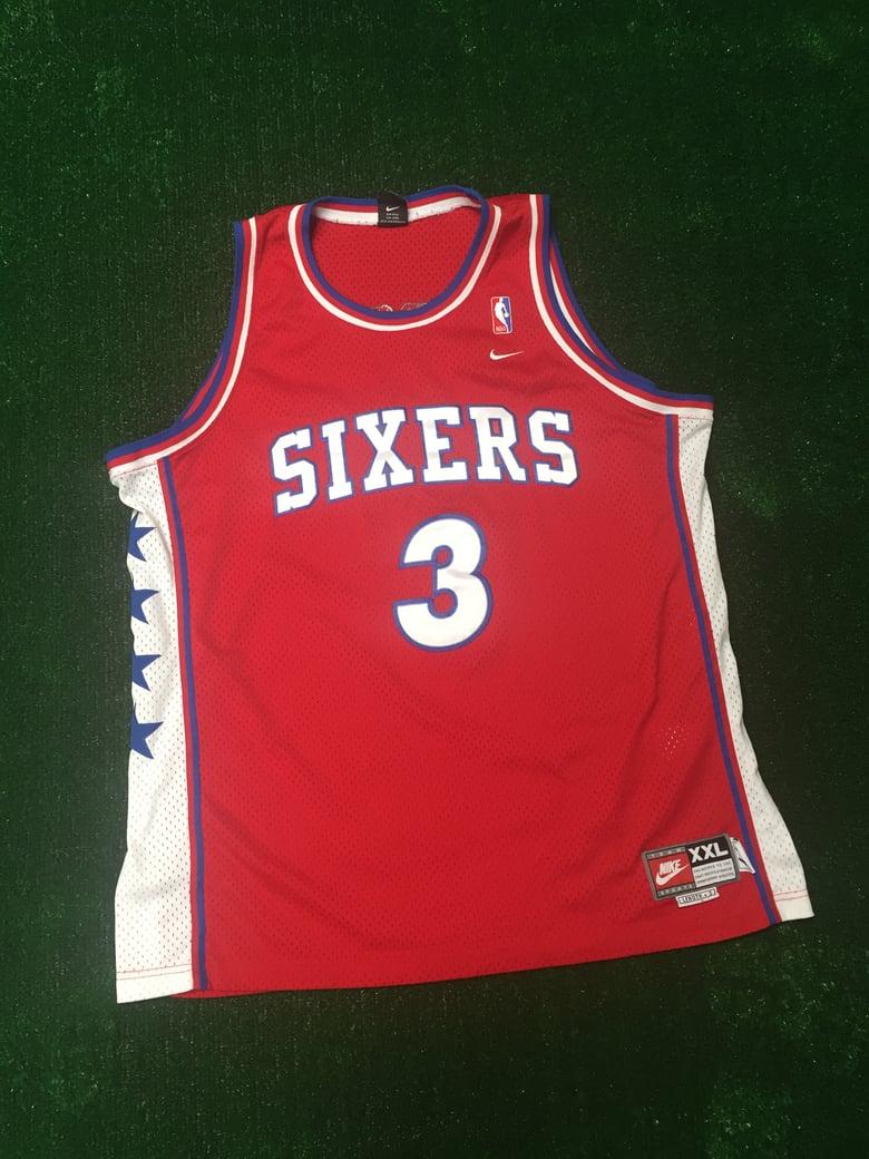 Image of Allen Iverson Philadelphia 76ers Rewind Jersey (Size XXL)