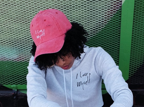 Image of Distressed ILoveMyself hat