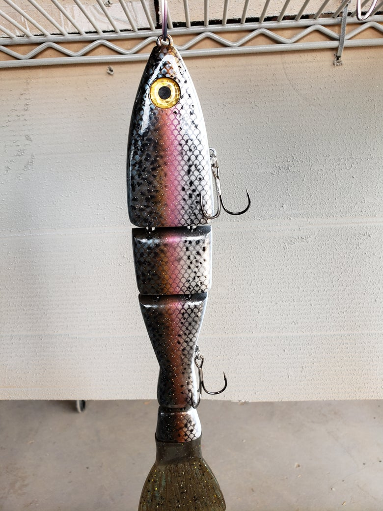 Image of 14 inch FLOATING CUT TAIL dark scale trout