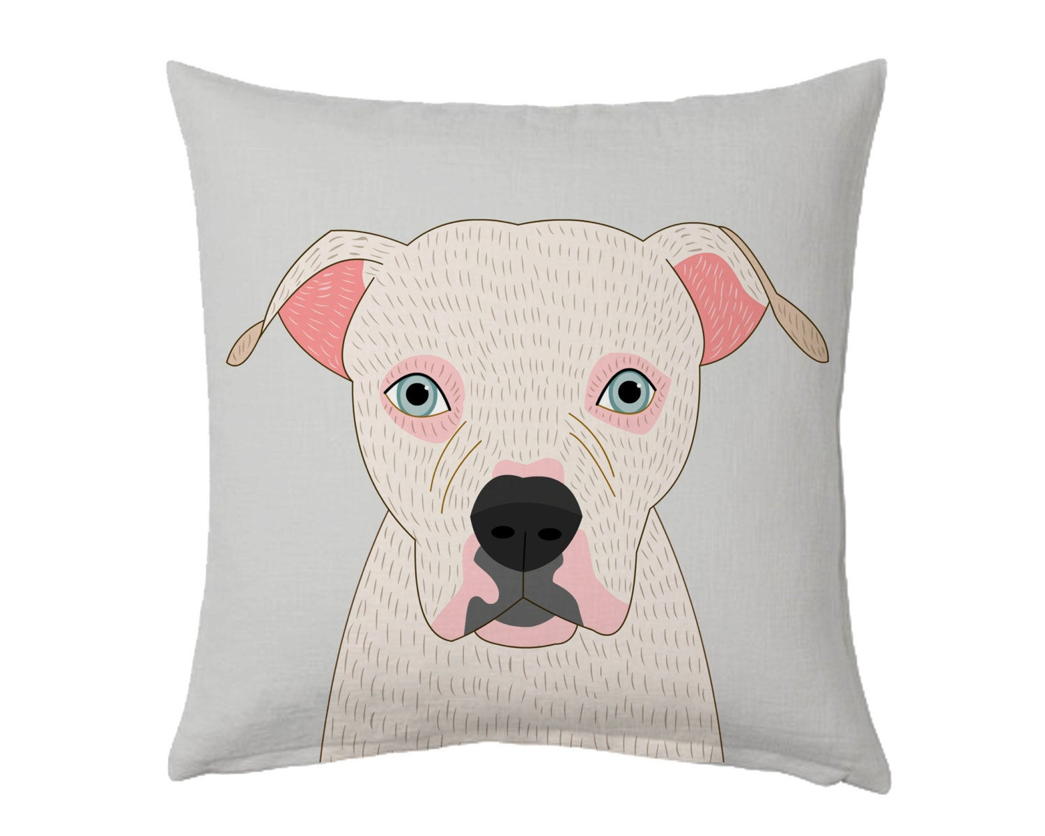 Image of Dog or cat pillow. Custom portrait pillow.