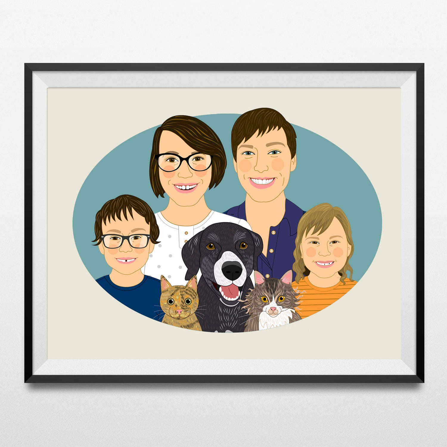 Image of Large family portraits. More than 4 people or pet.