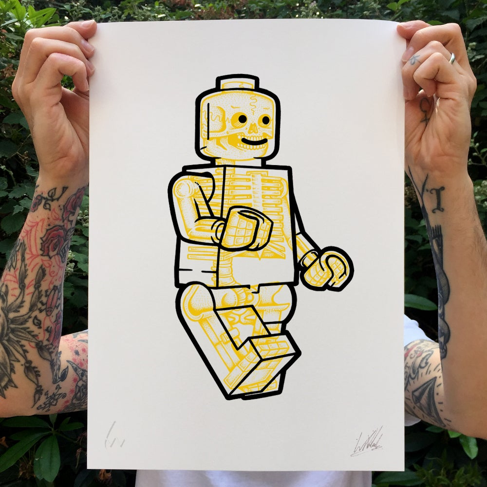 Image of Lego X-Ray Screenprint
