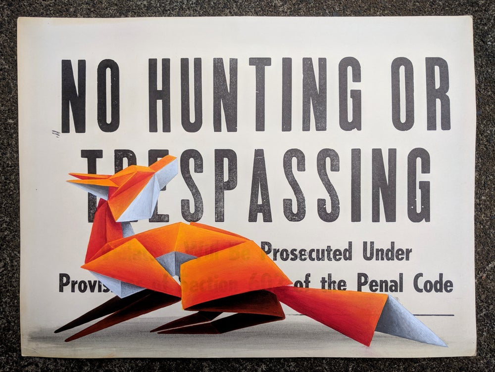 Image of 'No Hunting #1' original painting