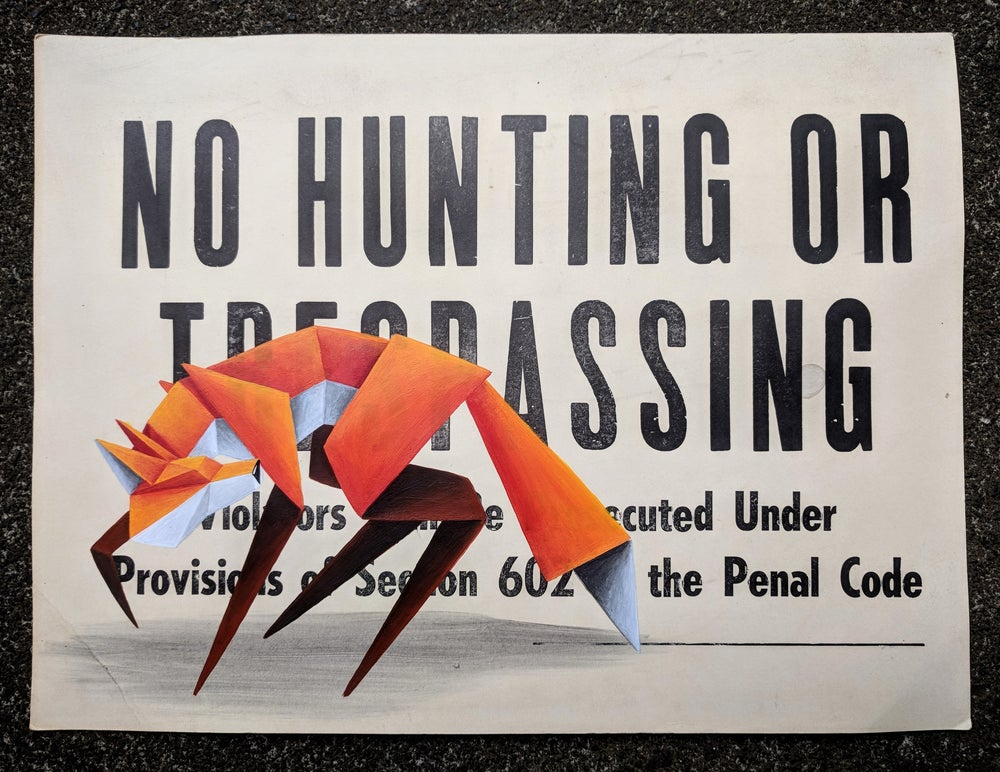 Image of 'No Hunting #2' original painting