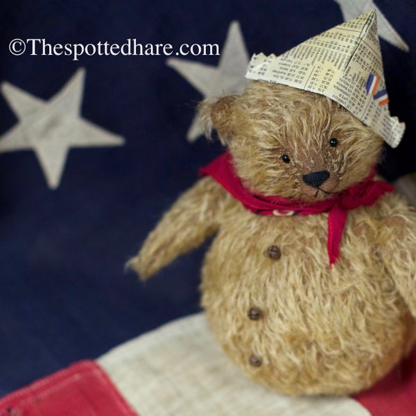Image of Kit ~ Roly Poly Teddy ~ Golden mohair