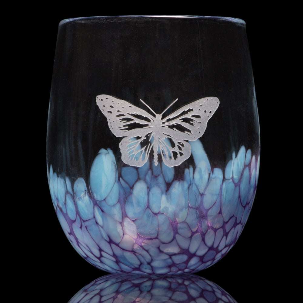 Image of ANIMAL TOTEM GLASS: BUTTERFLY