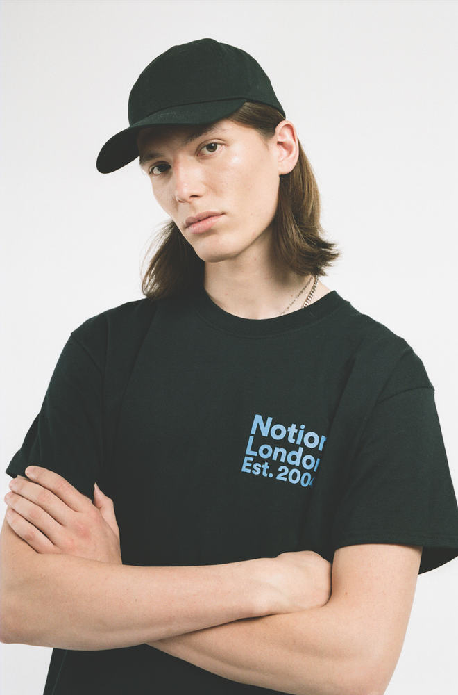 Image of Notion London Unisex Institutional Logo T-Shirt - Black