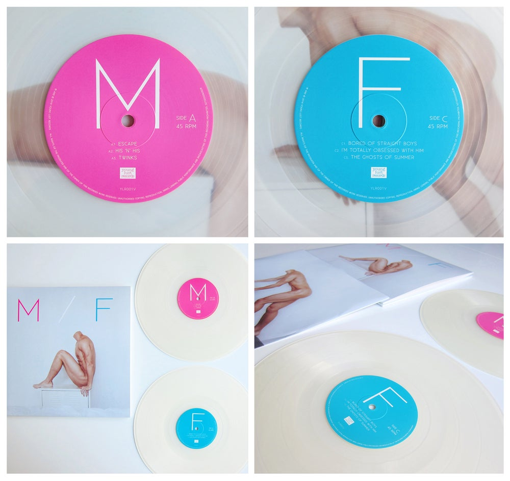 """Image of M/F - *LTD EDITION* 180g """"Frosted Clear"""" 2LP Gatefold VINYL w/ 12"""" Lyric Book (£25 or £30 SIGNED)"""