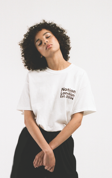 Image of Notion London Unisex Institutional Logo T-Shirt - White