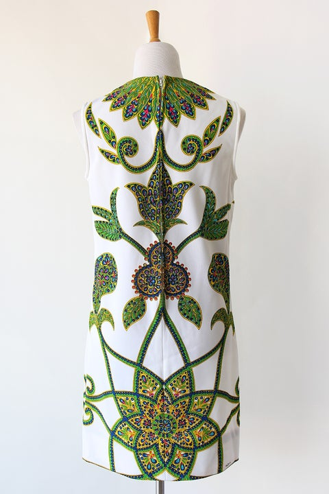 Image of SOLD Mr Dino Intricate Print Dress