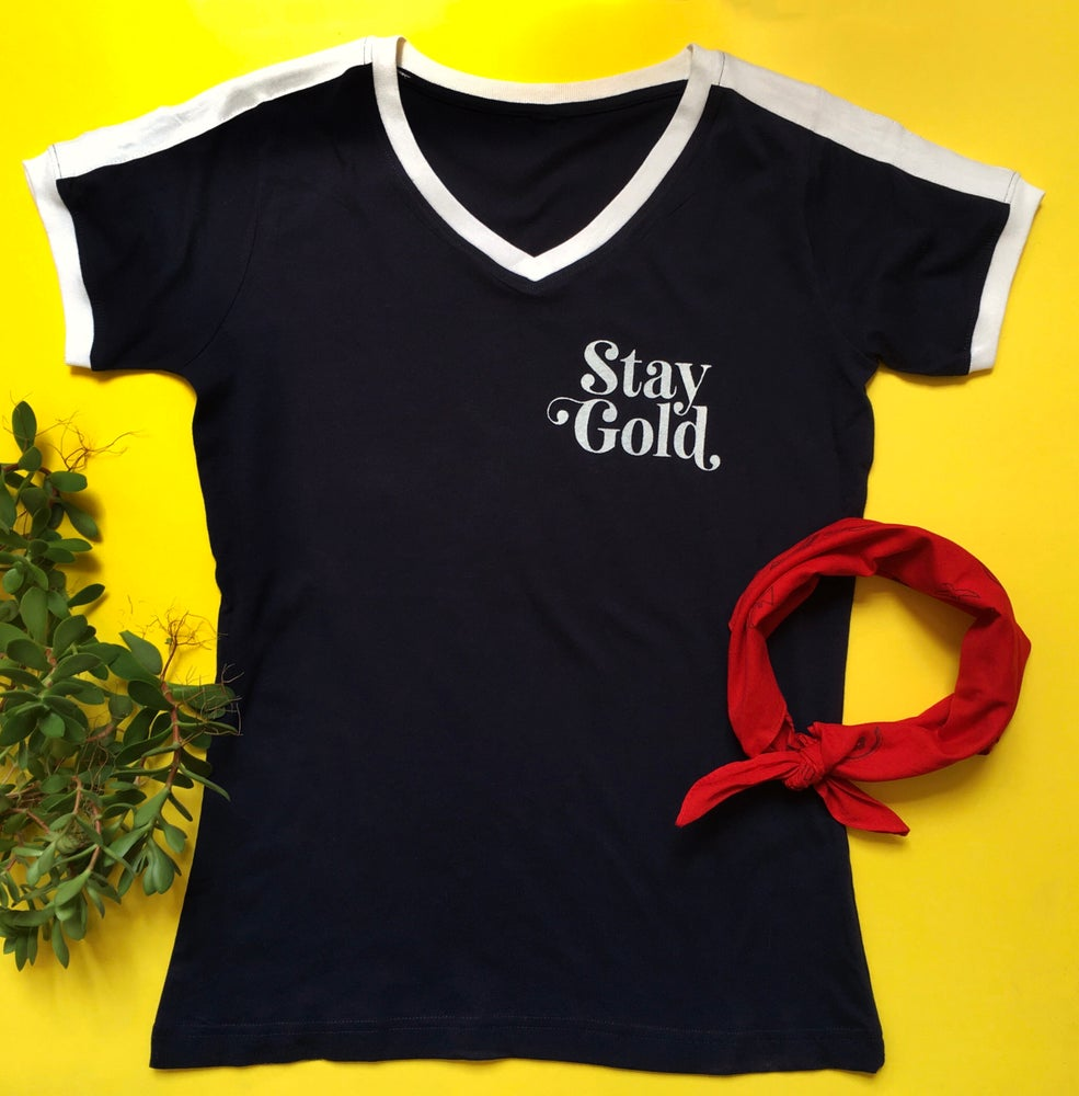 Image of Stay Gold Tee - Ladies