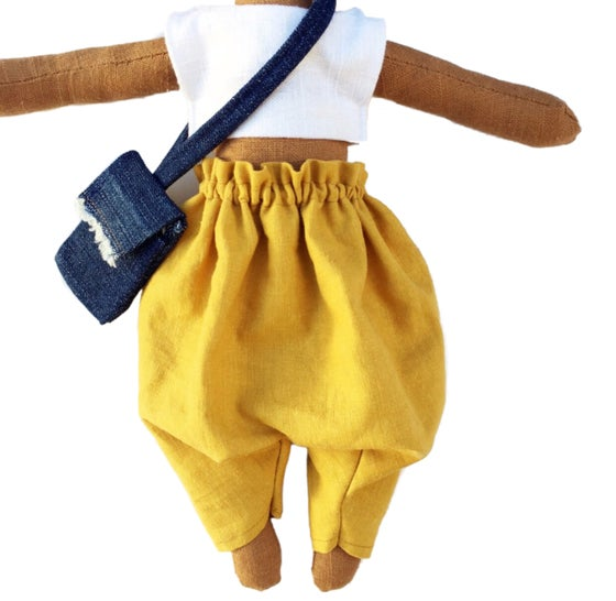 Image of Mustard harem pant- 3pc Doll Accessory