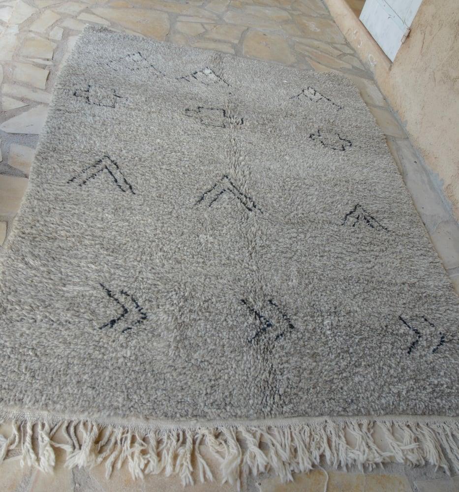 "Image of Tapis berbère gris ""Arzourh"""