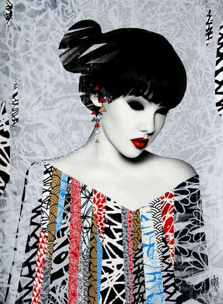 "Image of HUSH ""POISE"" - 18 LAYER SCREENPRINT - LTD ED 250 - 74CM X 54CM"