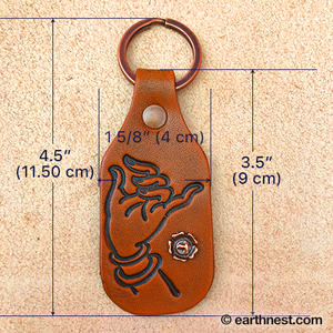 Image of Leather Key Chain - Buddha Hand