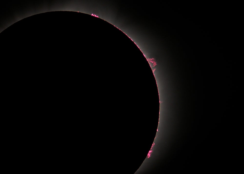 Image of Prominences - Solar Eclipse Totatlity 2017
