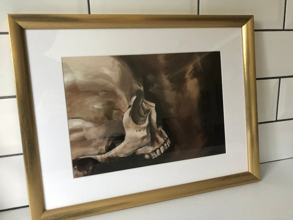 Image of Landscape skull original in oil