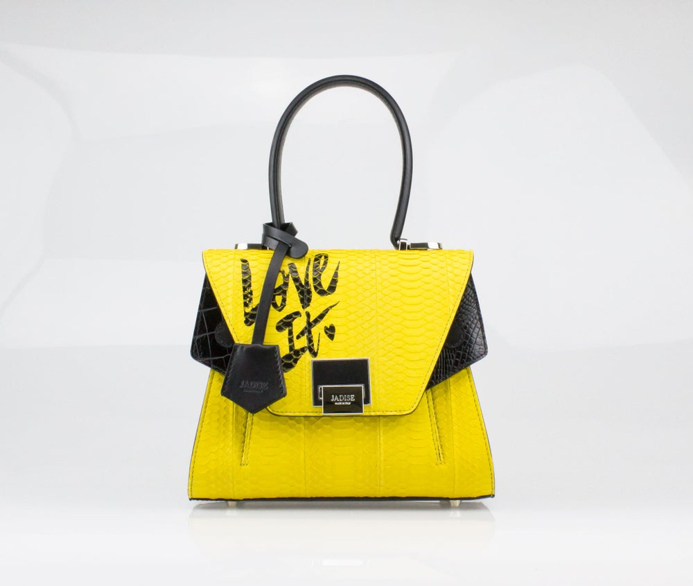 Image of SALE 30%  SABRINA SMALL LOVE IT  Art. 025066-1 Black / Yellow