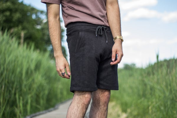 Image of Black Reverse Terry Shorts